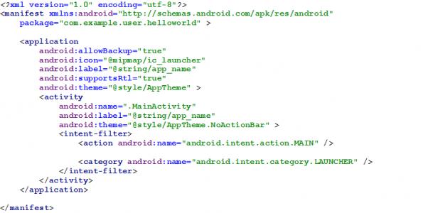 Figura 3 - AndroidManifest.xml