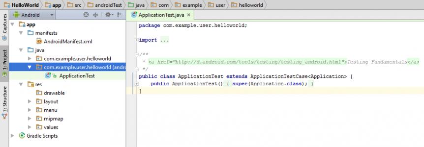 Figura 4 - ApplicationTest.java
