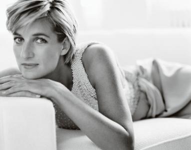 Retrato de Mario Testino á Princesa Diana