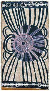 Arte acrílica aborígene - Charlie Tarawa: O Julgamento