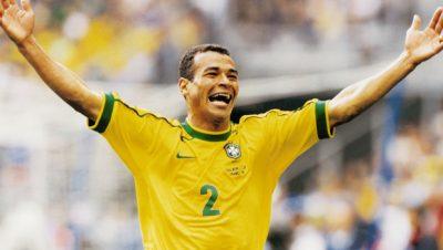 Data da foto: 1998 Cafu, do Brasil, comemorando gol durante jogo da Copa do Mundo.