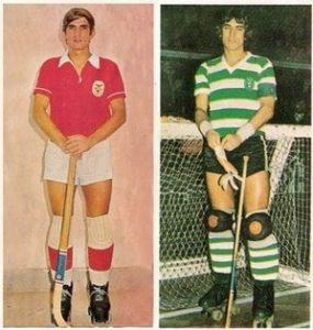 António Livramento como jogador ao serviço do Sport Lisboa e Benfica e do Spoting Clube de Portugal