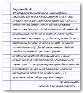 modelo de carta de agradecimento