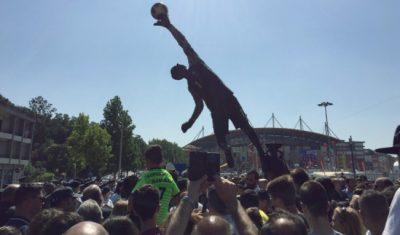 Estátua de homenagem a Rui Patrício - Leiria