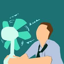 calor gerado pelo movimento da ventoinha que tenta dissipar a temperatura