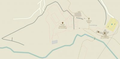 Mapa das ruínas de Conímbriga