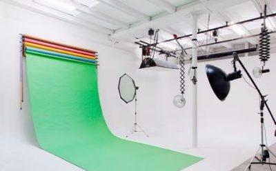 Ciclorama utilizada em estúdio
