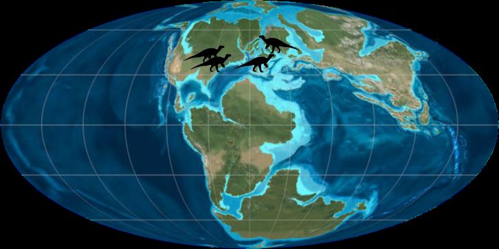 Iguanodonte-mapa