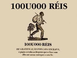 Anúncio de escravo desaparecido.