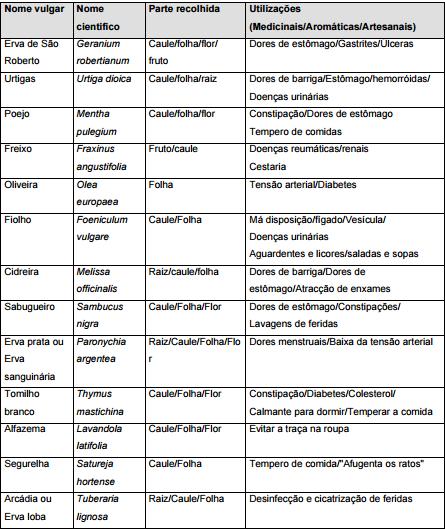 Utilizações de PAM. Alguns exemplos. Fonte: Santos, C. S. (2001)