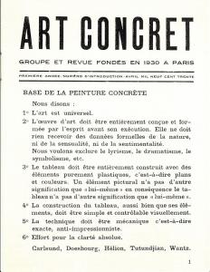 Arte Concreta -Manifesto