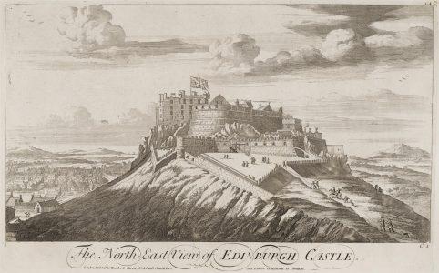 Castelo de Edimburgo numa gravura de John Slezer, 1675