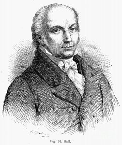 Franz Joseph Gall desenvolveu a pseudociência denominada como frenologia.