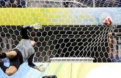 Exemplo de golo no futebol