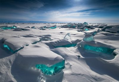 Vista do Lago Baikal na Sibéria