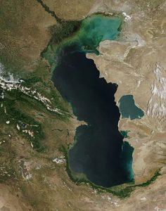 mar caspio - 10 maiores lagos do mundo