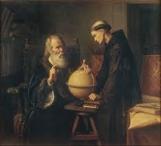 Galileu explicando as suas teorias